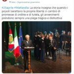 DON FLORIANO, Le gravissime responsabilità del presidente Mattarella